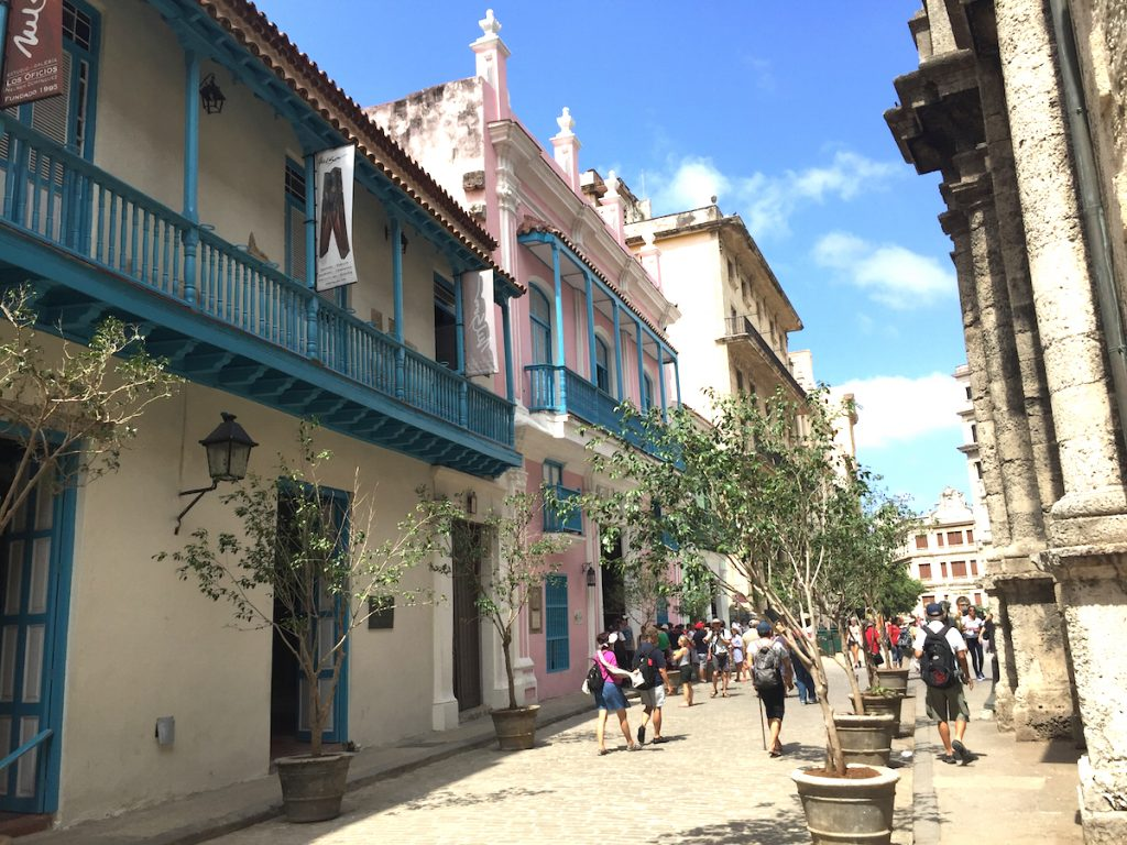 Old Havana streets are lined with people day and night and the colors ring true of Caribbean tropics.