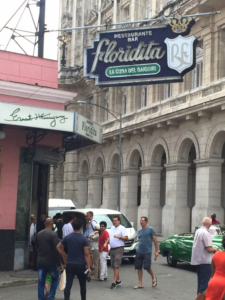 Floridita was one of Hemingway's haunts -- and the restaurant/bar keeps a bust of him in the corner of the bar where he typically sat.