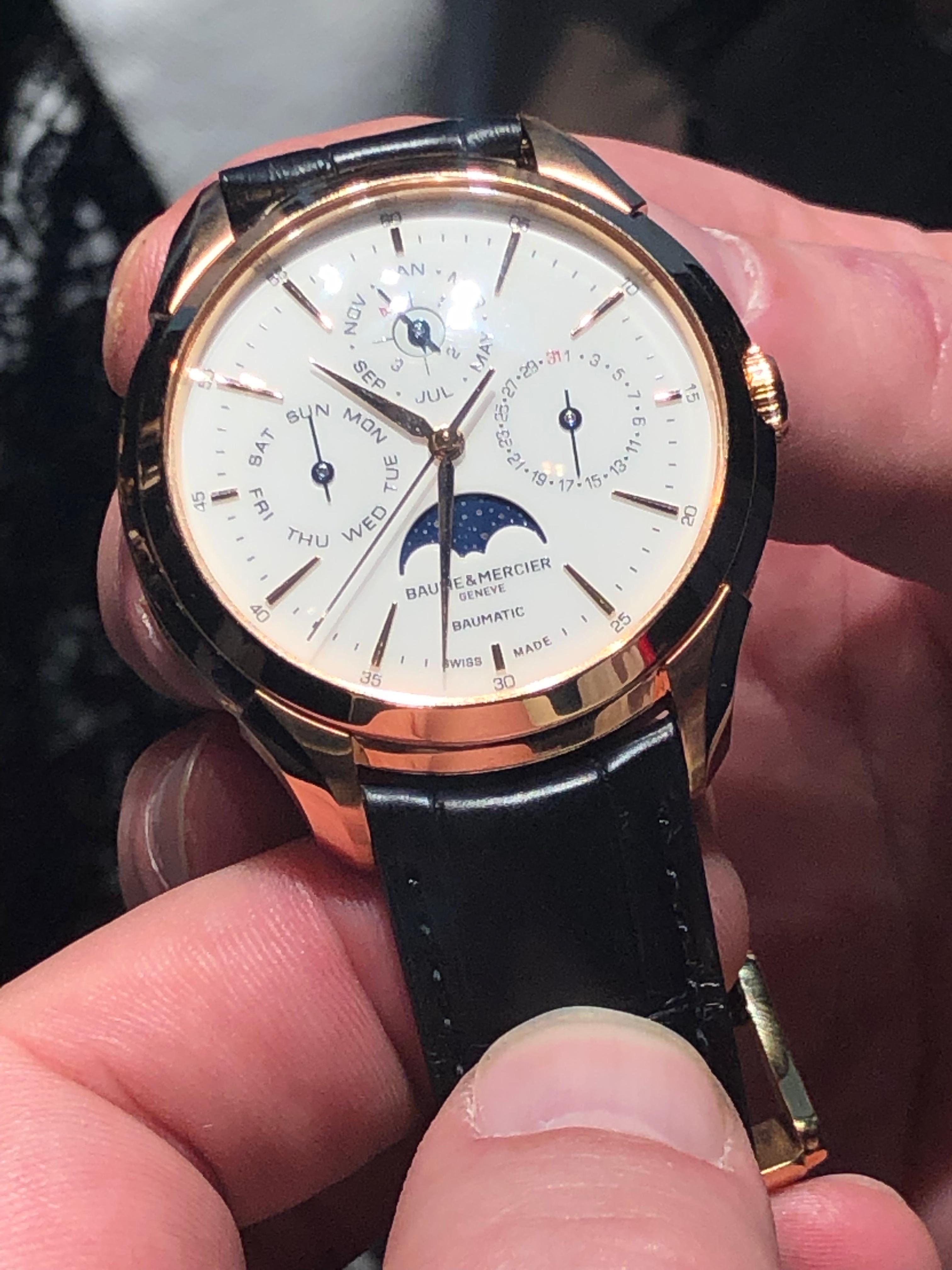Baume &  Clifton  Mercier Baumatic Perpetual Calendar watch as seen at SIHH 2019