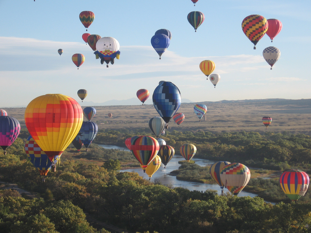 Hot Air ballooning in New Mexico with Parmigiani Fleurier