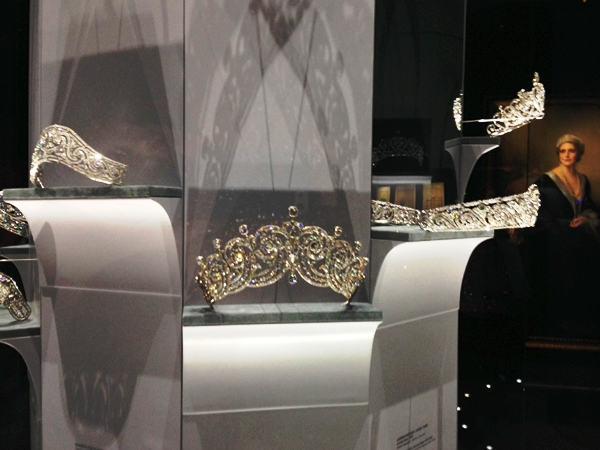 Tiaras are a big portion of Cartier history, as the kings' jeweler. The exhibition features an entire case dedicated to tiaras belonging to royalty.