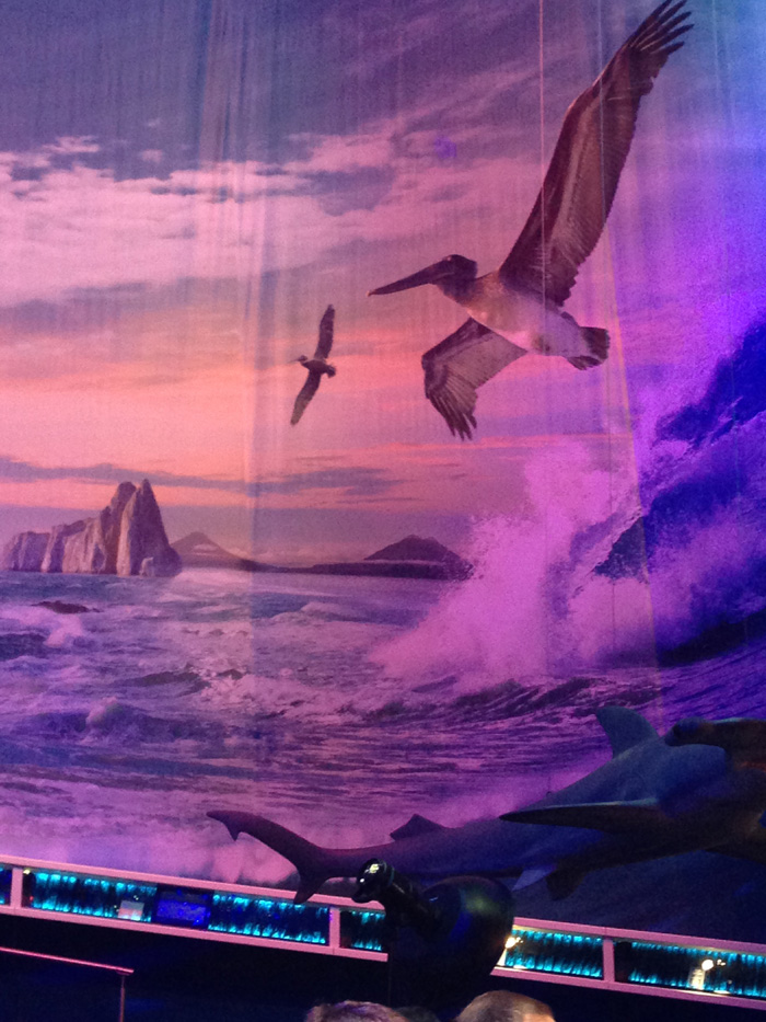 The IWC booth at SIHH was all about being inside the wave.