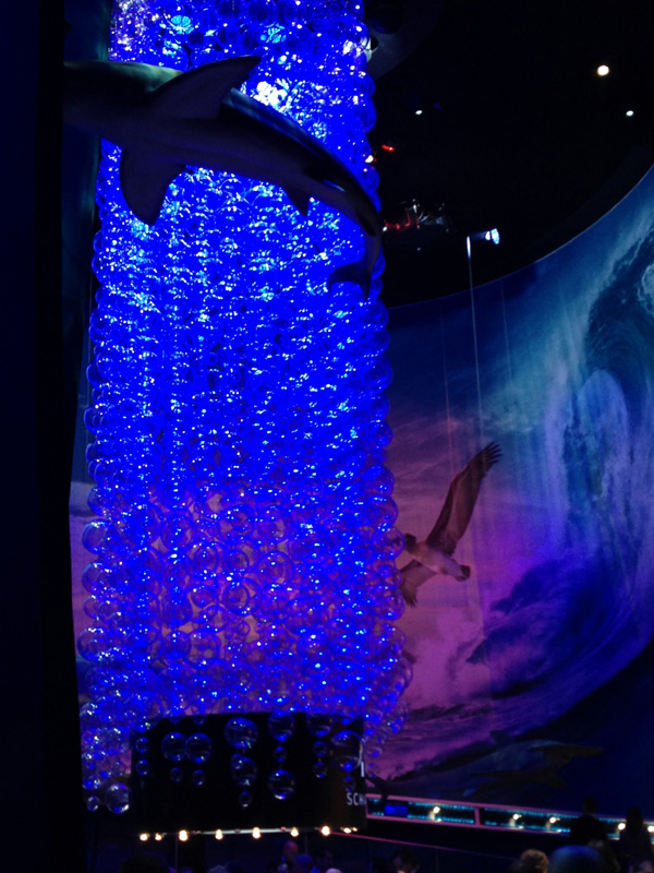 The IWC booth -designed to introduce the new Aquatimers -- had a surreal feeling to it.