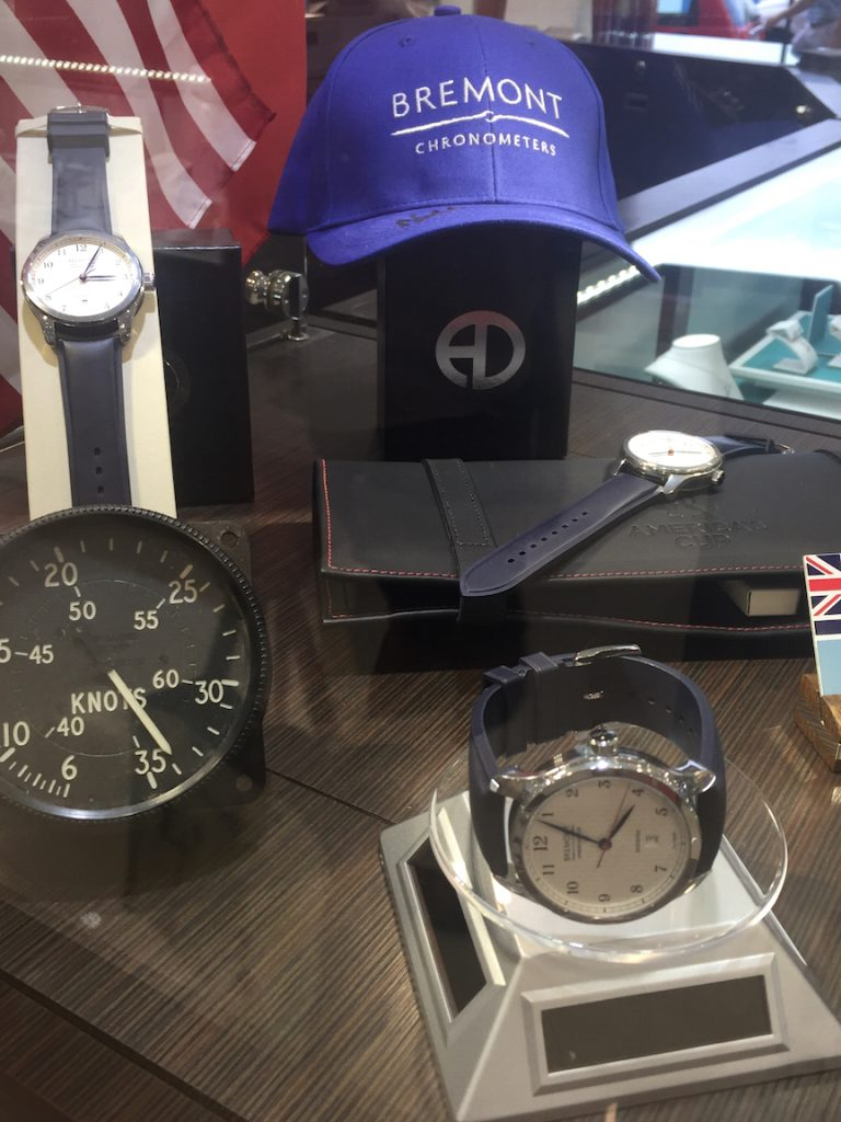 Bremont display at Astwood Dickinson Jewelers in Bermuda during the finals of the 35th America's Cup.