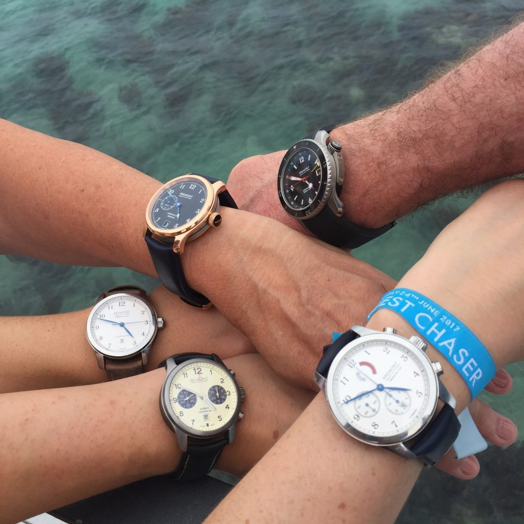 Bremont watches during the 35th America's Cup in Bermuda