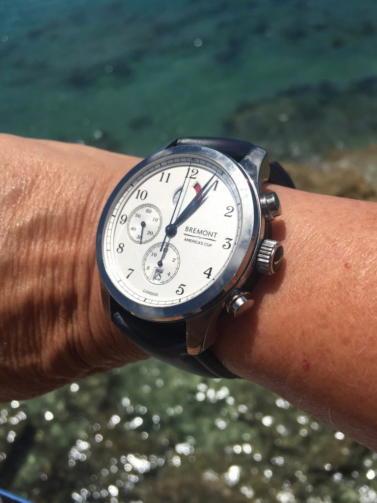 Bremont America's Cup Regatta watch on the Great Sound in Bermuda for the 35th America's Cup.
