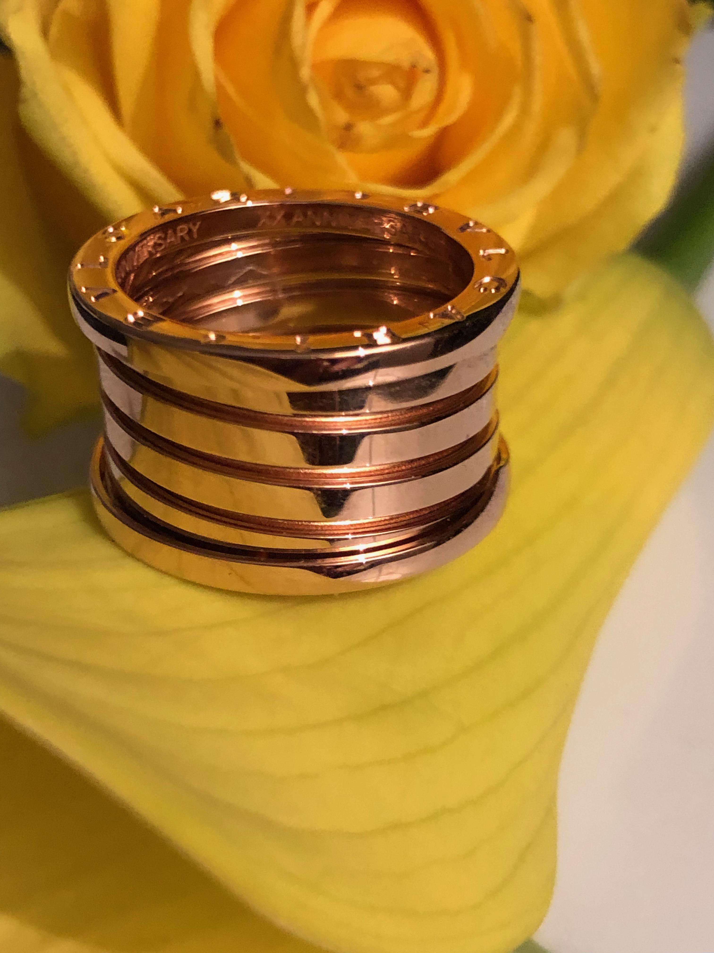 Bulgari B.zero1 XX Anniversary ring