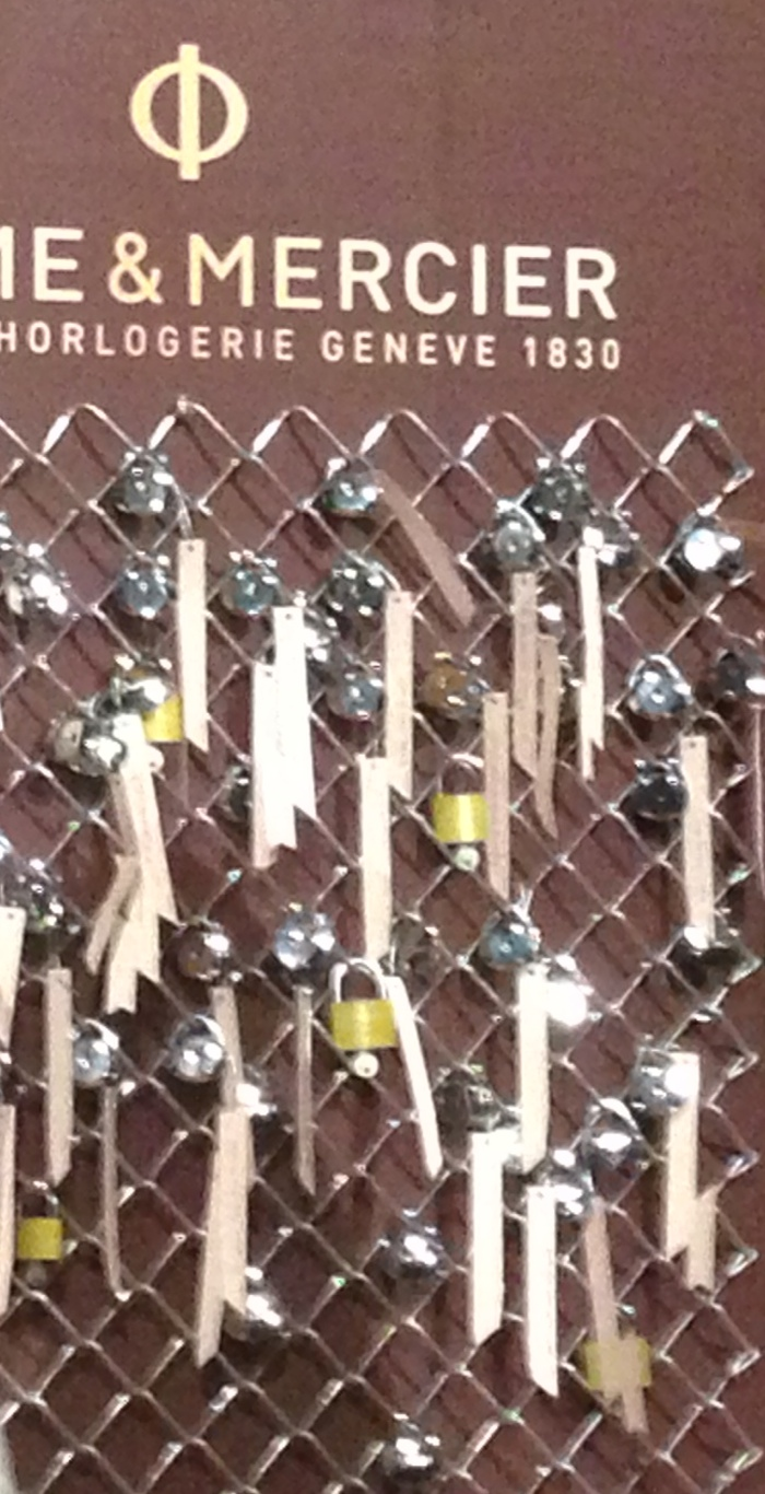 Locks and wishes, underscoring sharing, caring and special dreams.