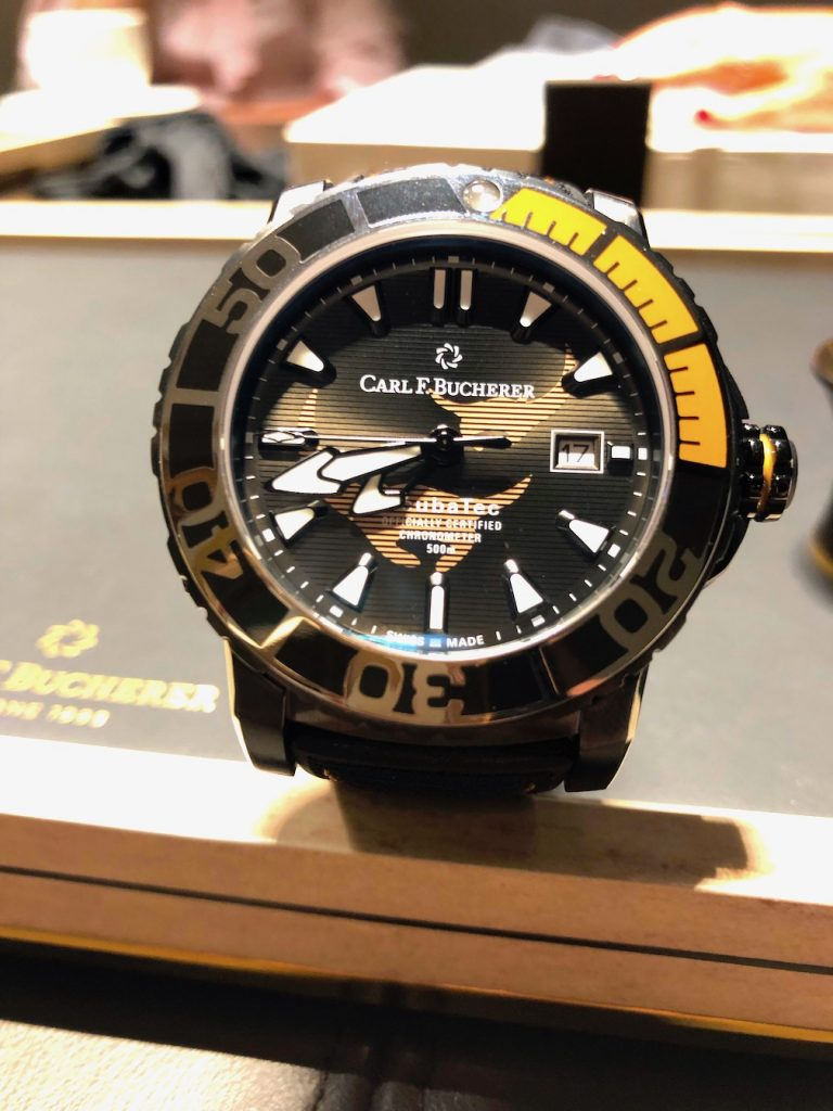 Carl F. Bucherer Patravi Scubatec Black Manta watch is the newest in the series