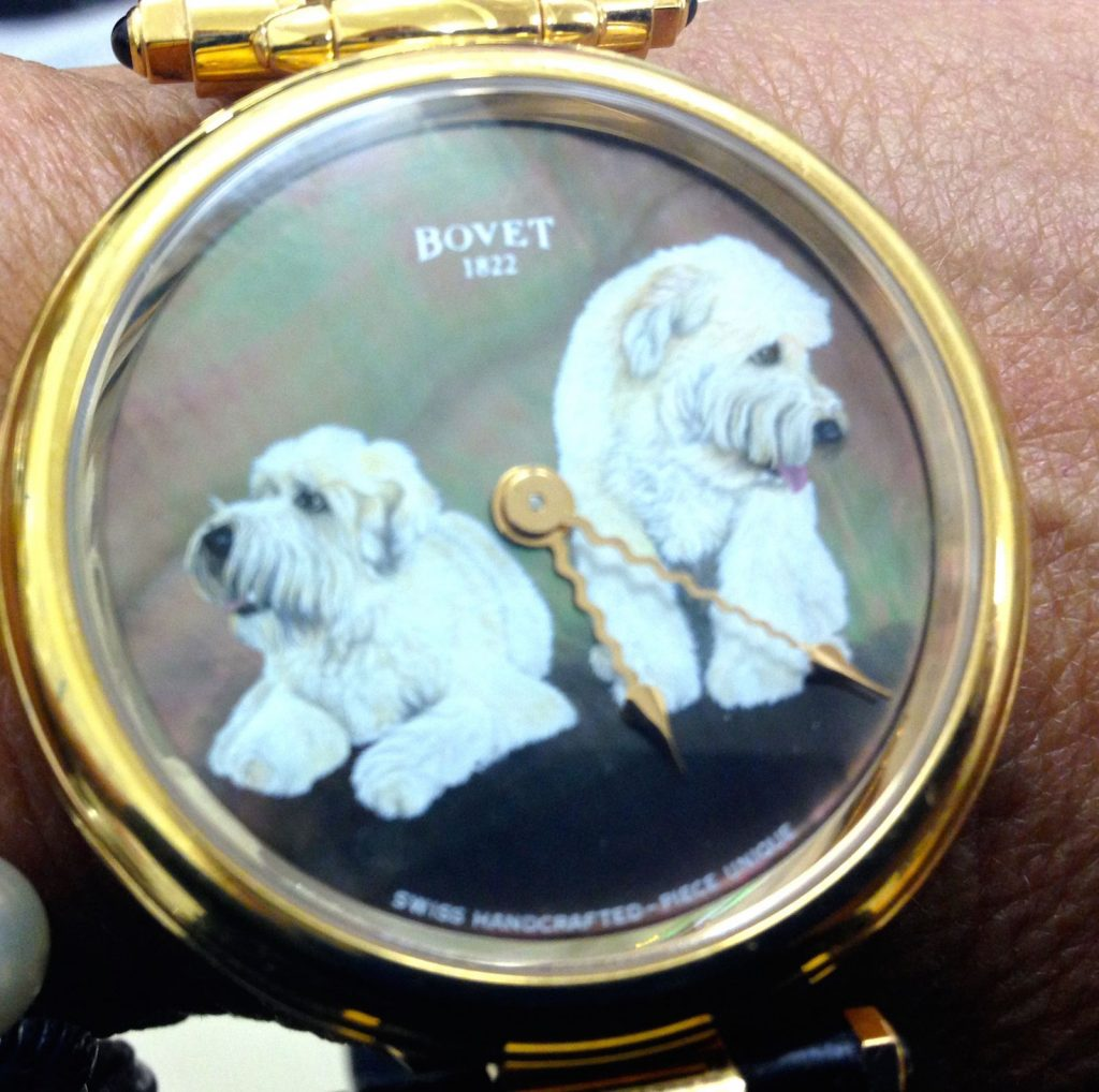 Bovet 1822 hand-painted customized Fleurier watch. (Photo: R. Naas)