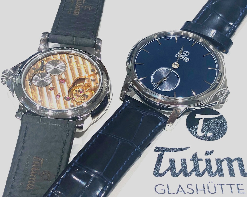 Tutima Patria Admiral Blue watch with manual-wind movement made in-house in Germany.