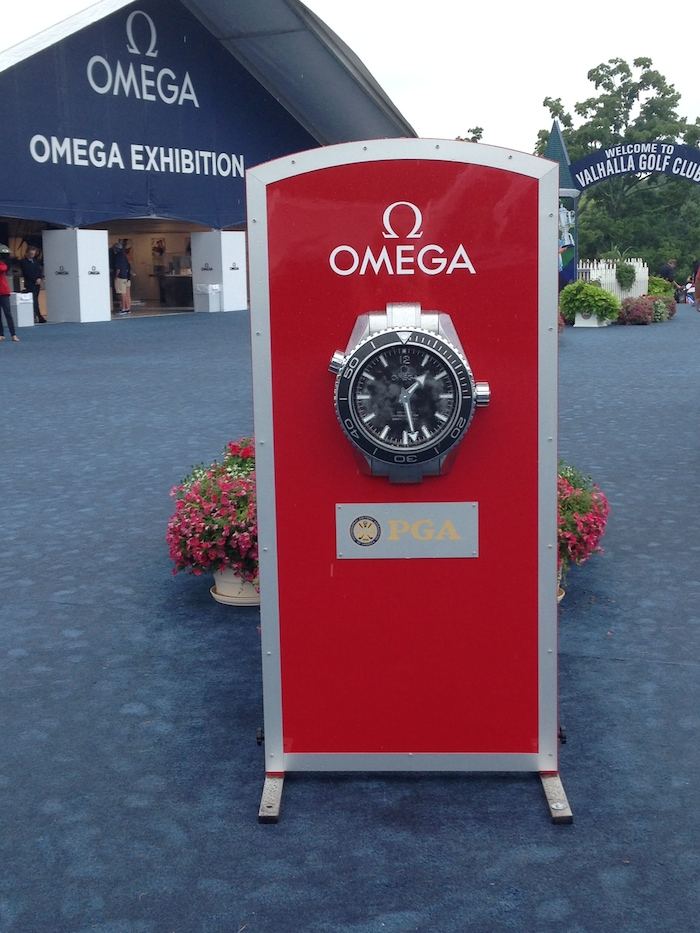 Omega clocks were strategically positioned around the course.
