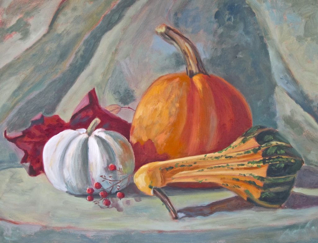 pumpkin painting by Deb O'Rourke, www.deborourke.com