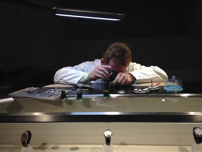 There is a watchmaker on premises upstairs in the A. Lange & Sohne NY boutique.