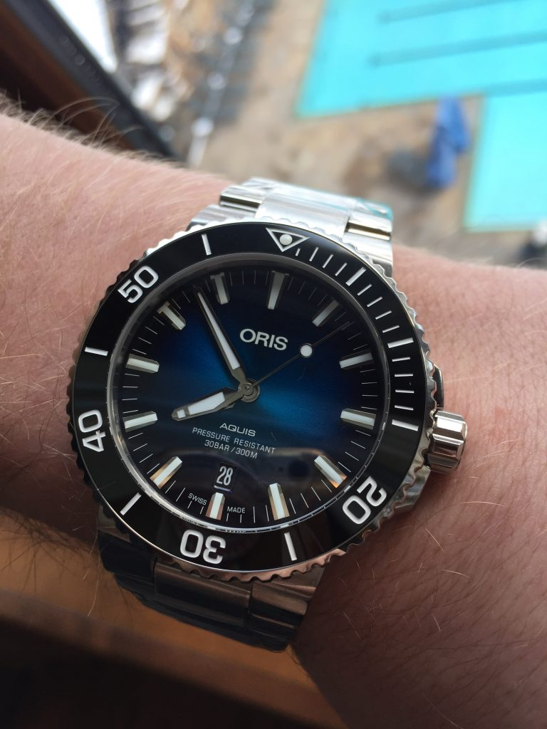 The Oris Clipperton watch is in support of the Clipperton expedition, and the tagging and tracking of shark migration patterns around the atoll.