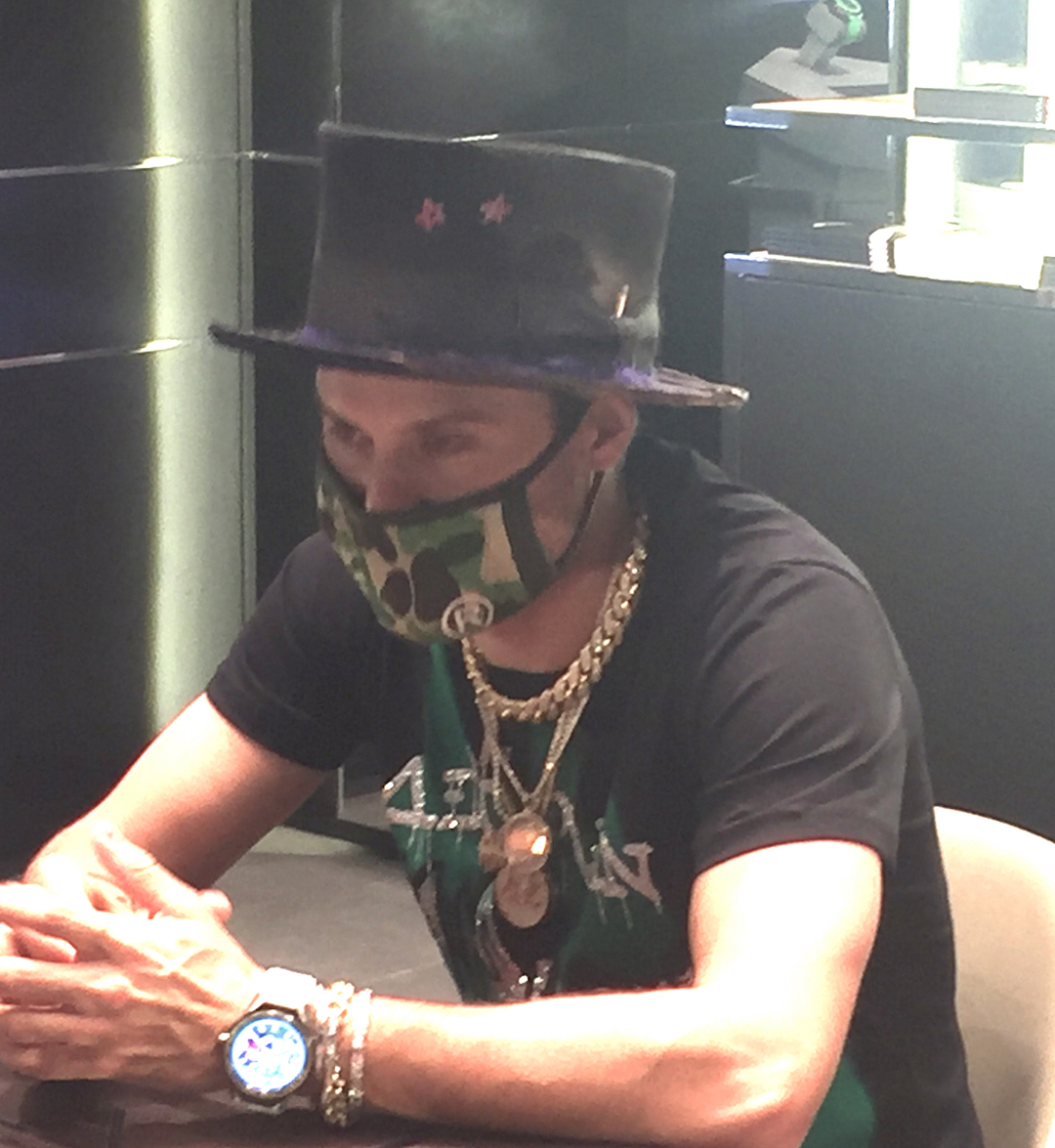 Alec Monopoly is a brand ambassador (Artist provocateur) for TAG Heuer.