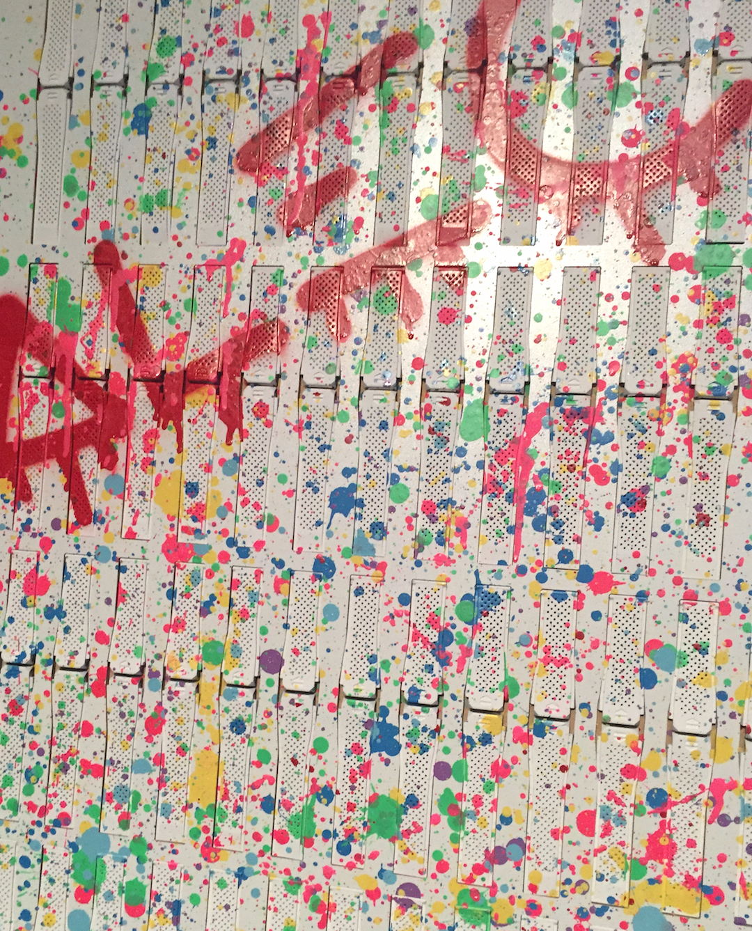 Alec Monopoly completed the painting of the 300 straps during the Art Basel Miami TAG Heuer event. Straps placed in the upper left corner of the board will have a bold red line that is part of his signature.