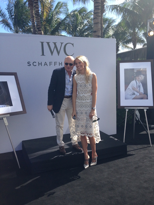 IWC CEO Georges Kern with  Karolina Kurkova