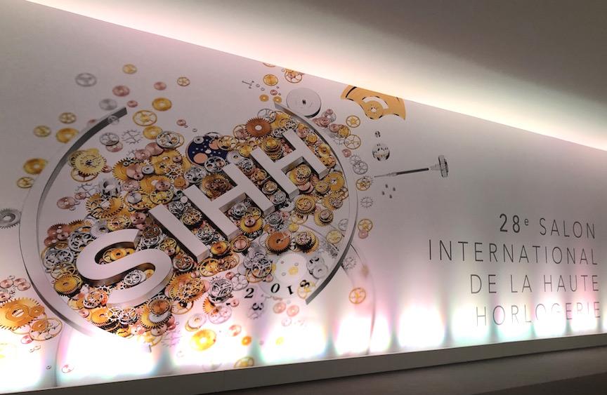 Salon International de la Haute Horlogerie, SIHH, 2018 entry hallway.