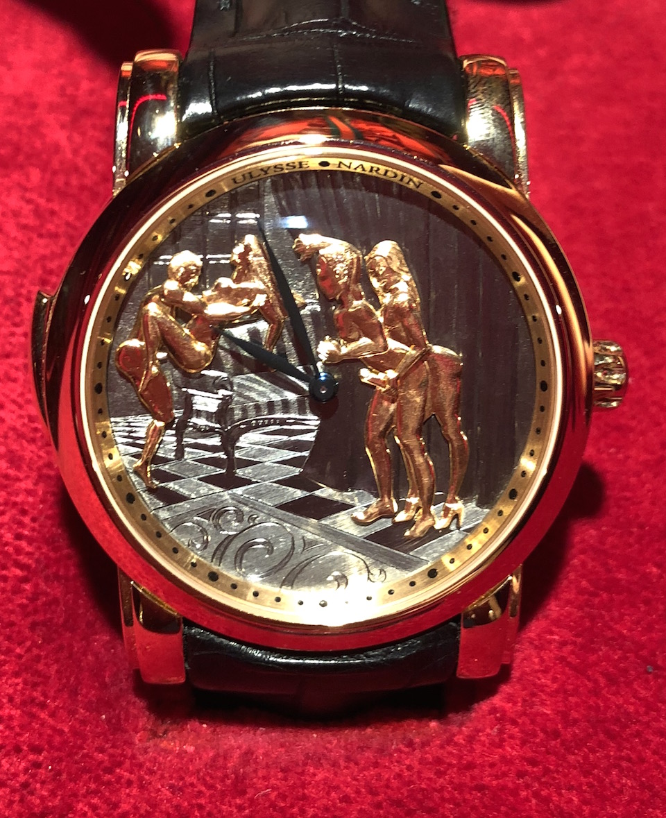 """Yes, we did go """"hands on"""" at SIHH 2018 with the Ulysse Nardin Classic Voyeur Erotic watch."""