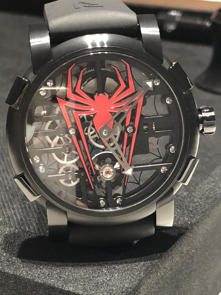 Romain Jerome Spiderman watch, Watches & Wonders Miami.