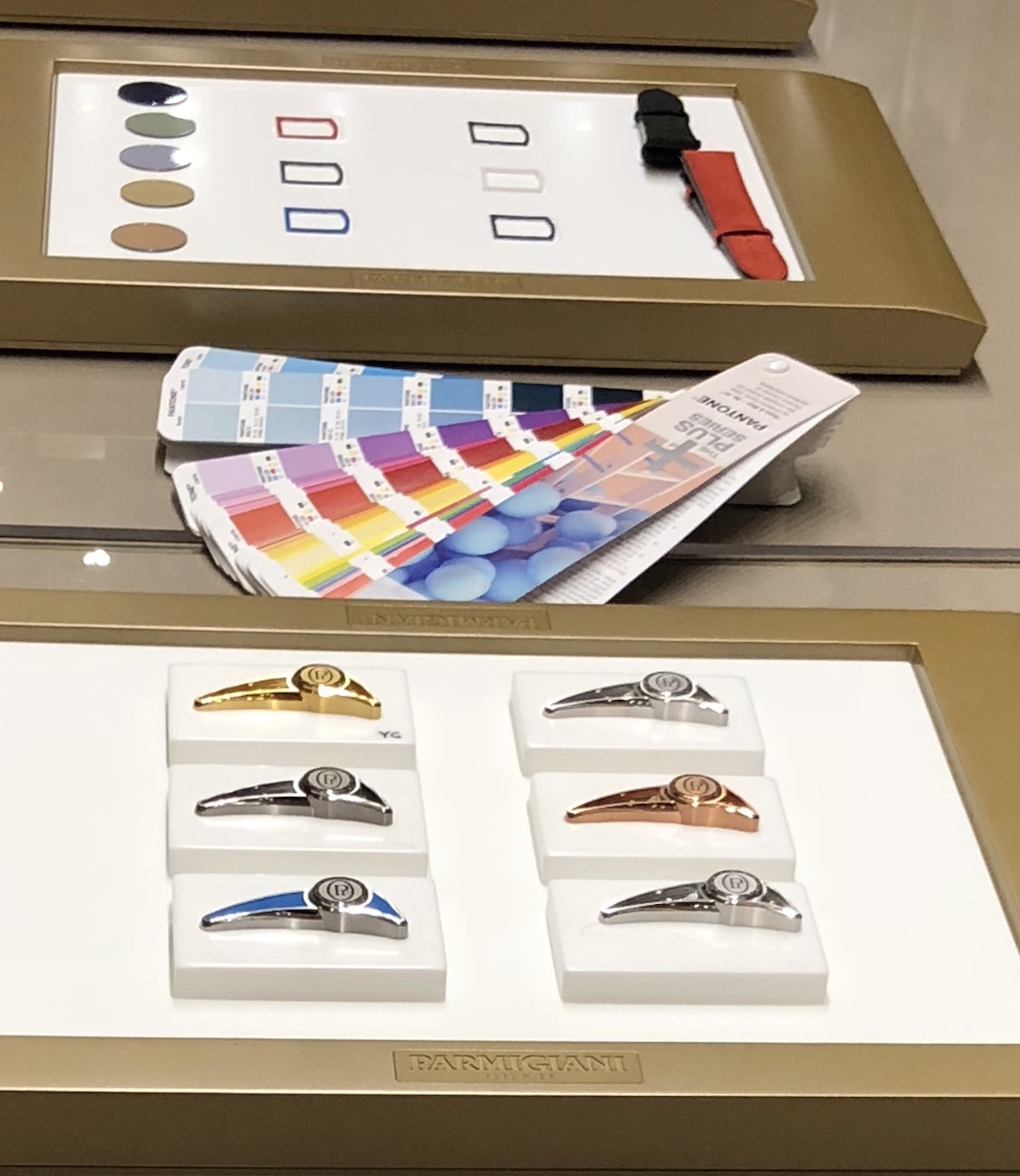 A host of colors, including Pantone hues, can be created for the inserts and accents of the Parmigiani Bugatti Type 390 Sport watch.