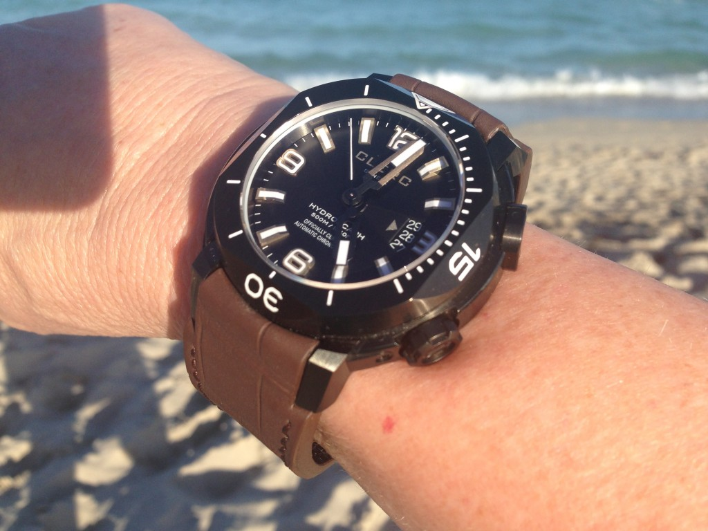 Clerc Hydroscaph H-1 in black DLC steel (photo:R.Naas)