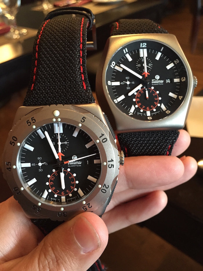 Side by side comparison of the M2 Chronograph and M2 Pioneer