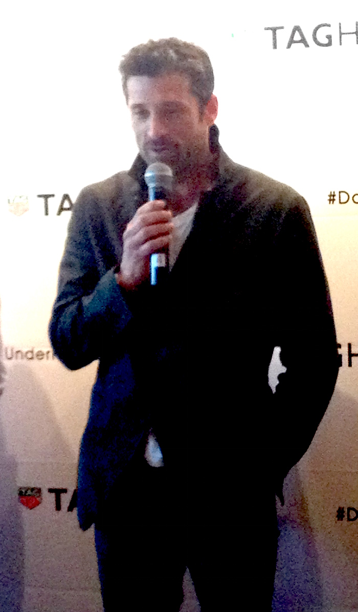 Patrick Dempsey, TAG Heuer brand ambassador, actor and racer