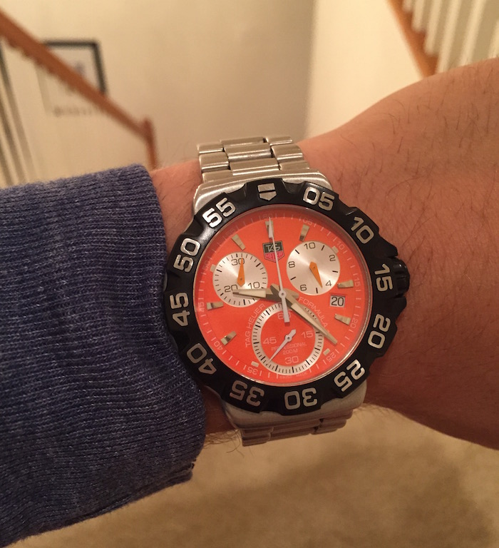 My TAG Heuer FORMULA 1 Chronograph handed down from my father.
