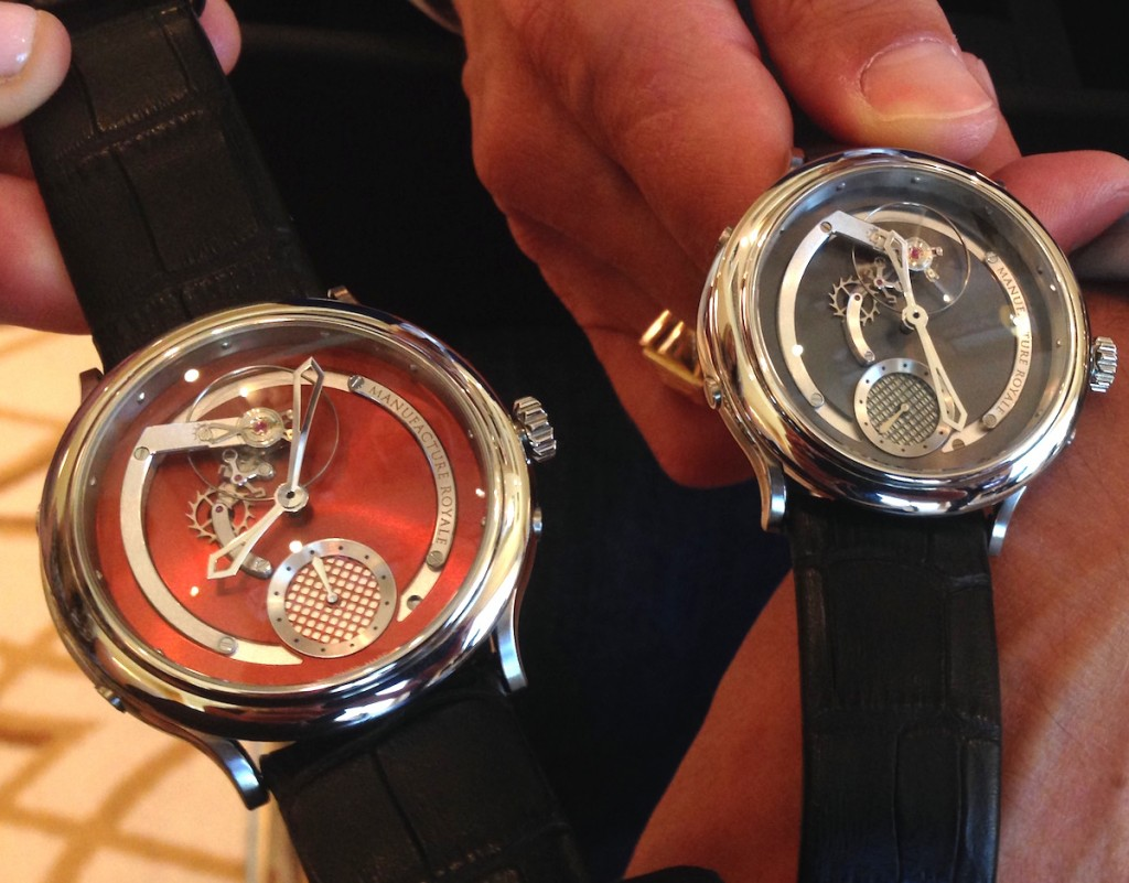 Manufacture Royale 1770 Voltige -- offered in stainless steel or rose gold