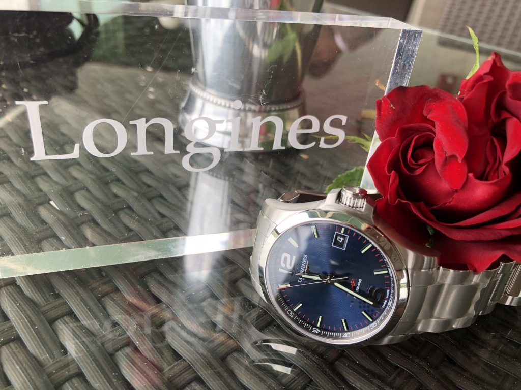 The Official Watch of this year's Kentucky Derby is the Longines Conquest V.H.P.