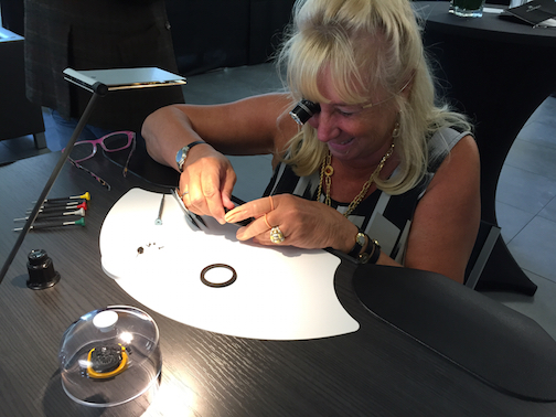 Working on watches at the Hublot factory opening