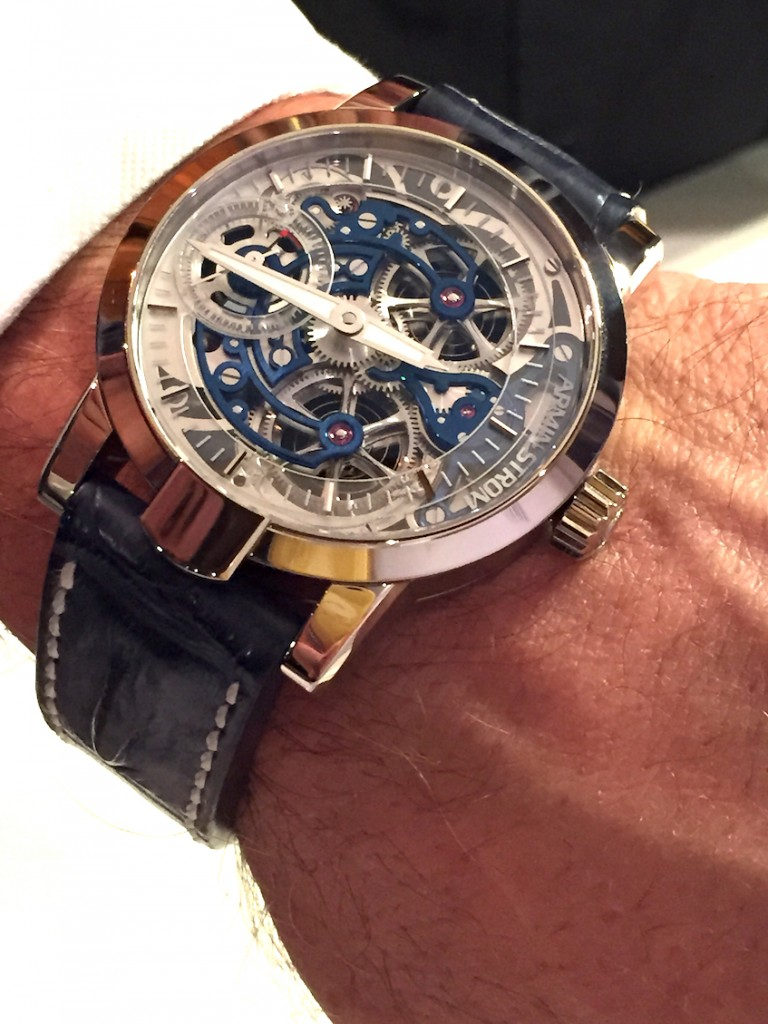 Armin Strom Skeleton Pure white gold and blued movement