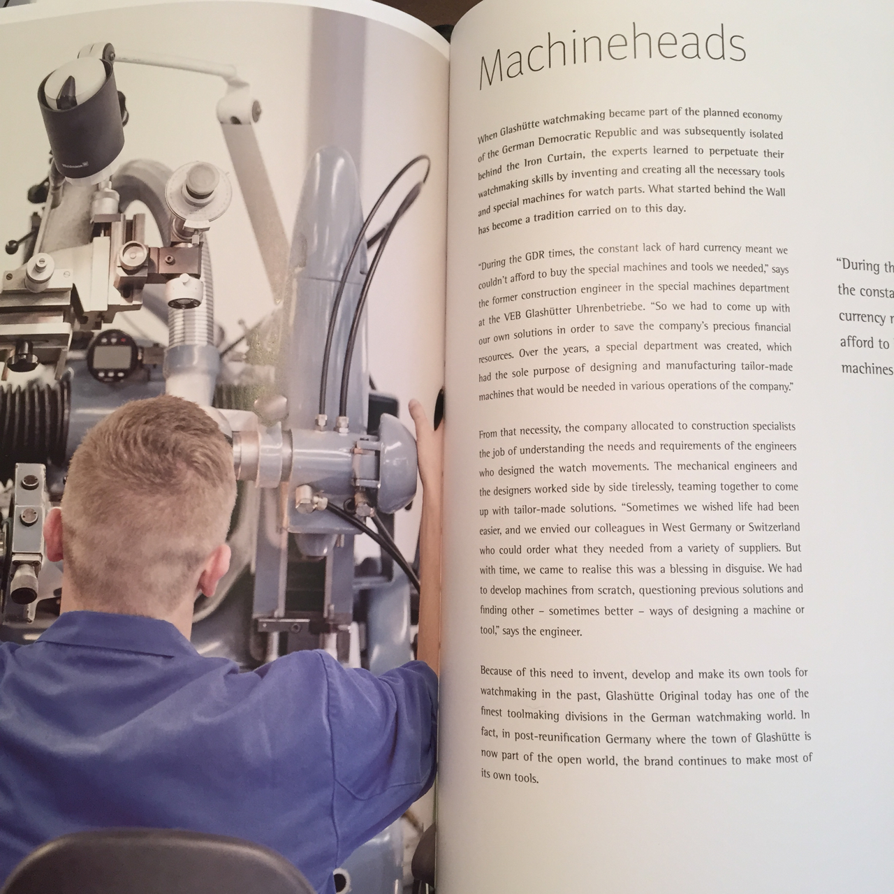 Roberta Naas covered the chapter entitled Machine Heads, that explains how the brand created the machines to enable it to move forward in watchmaking