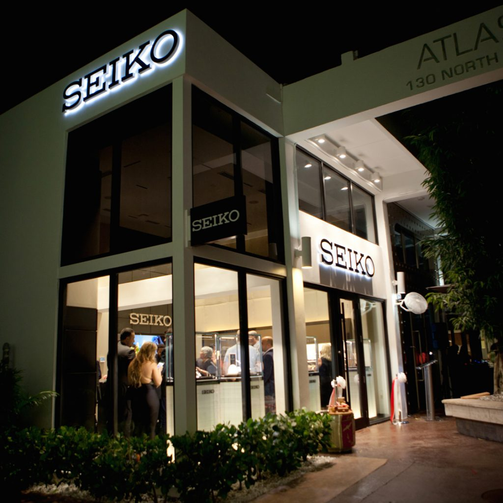 The new Seiko Miami Design District boutique is the 71st worldwide store for the brand.