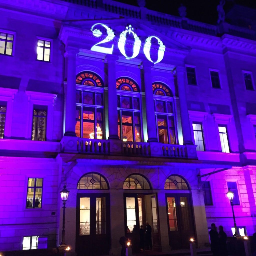 The 200th birthday celebration in honor of Ferdinand A. Lange took place at the Schloss Albrechtsberg castle in Dresden