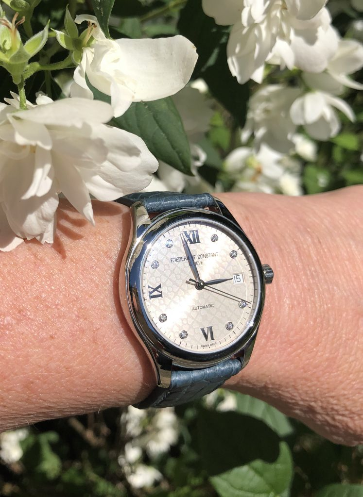 Hands on with one of the Frederique Constant Ladies Automatic Collection, launched last night in London with Gwyneth Paltrow.