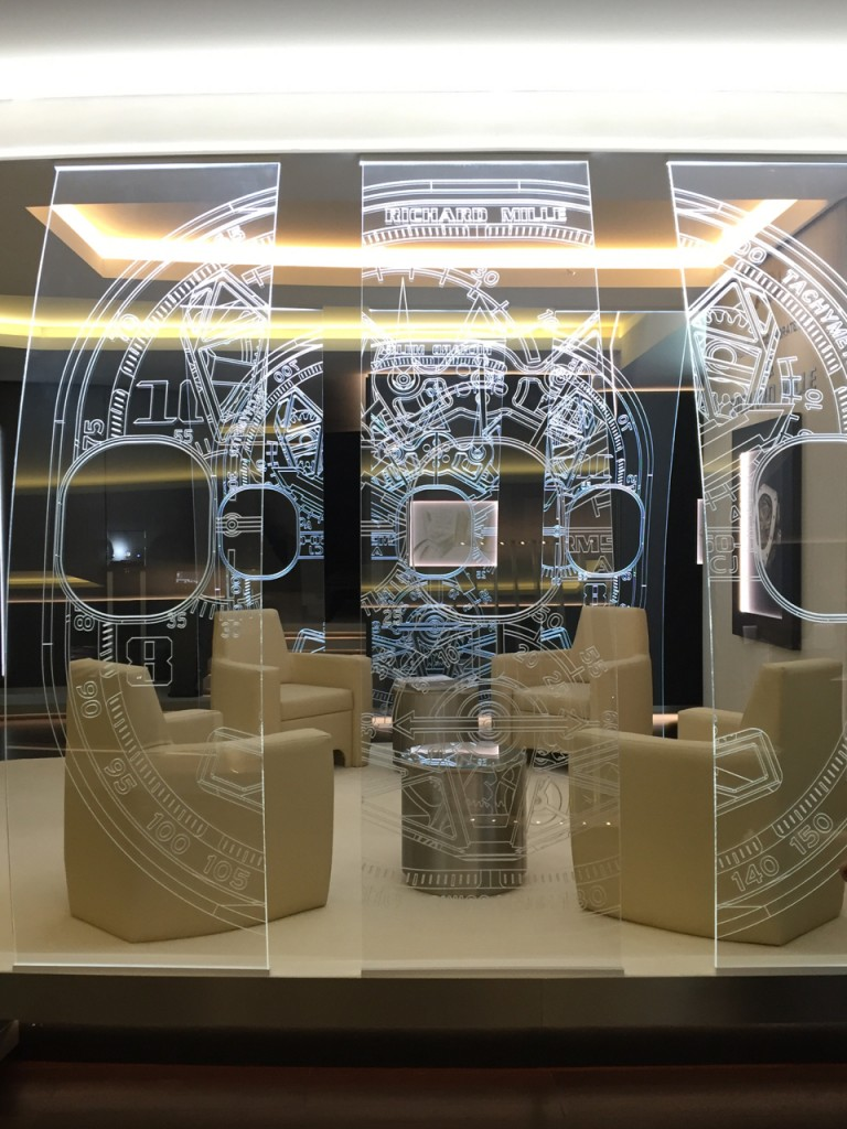 To demonstrate its commitment to the watch and partnership, at SIHH 2016, Richard Mille even set up an ACJ lounge to look like the inside of a private plane. (photo: R Naas,ATimelyPerspective.com)
