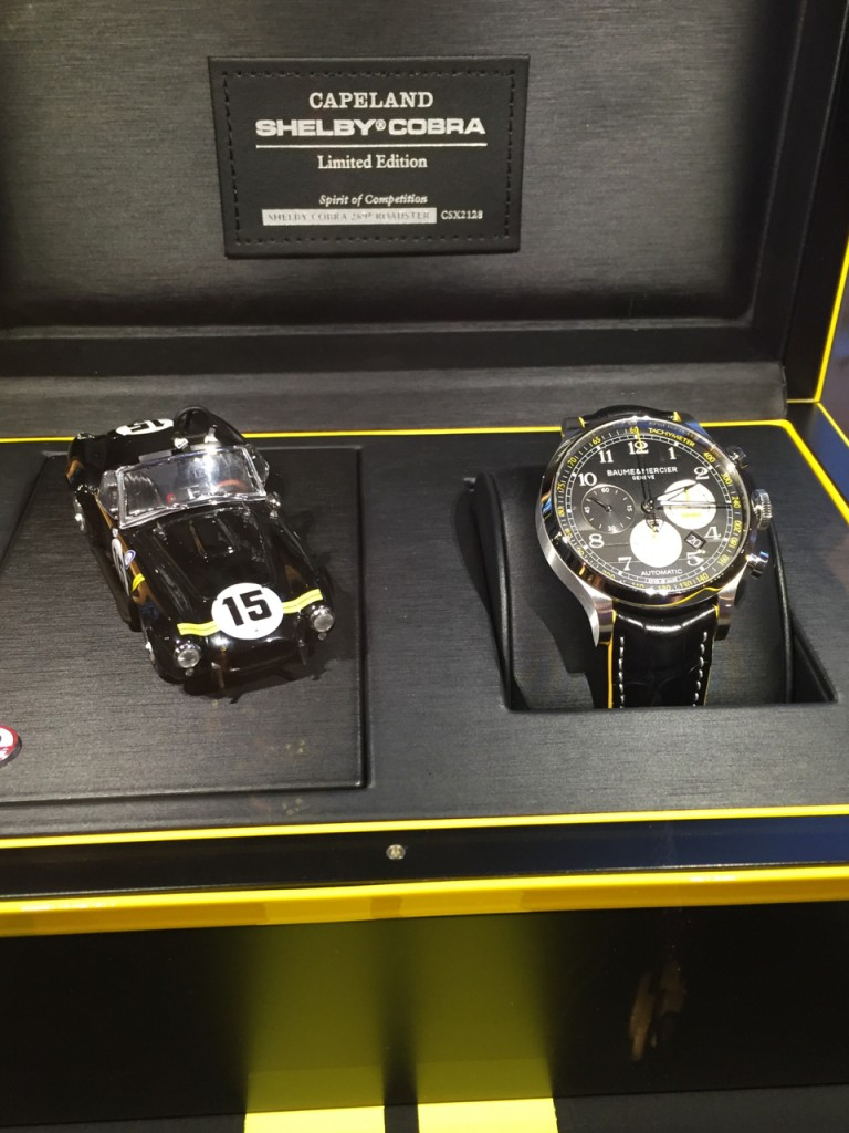 Each watch is sold in a presentation box with a model car