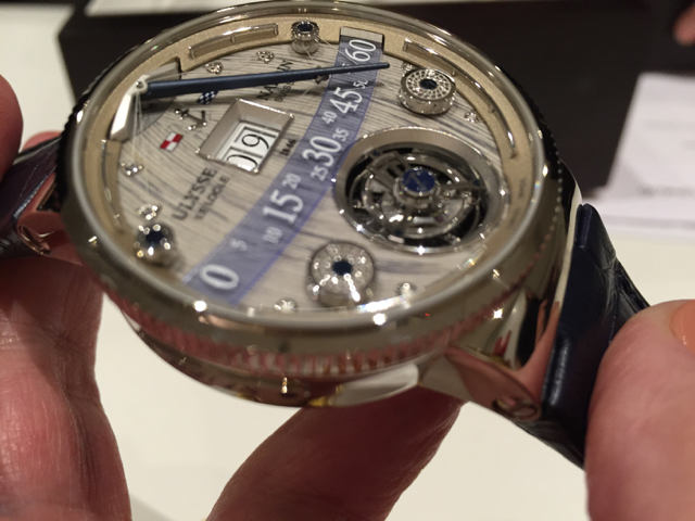 The high-precision Ulysse Nardin Grand Deck Marine Tourbillon is one of the more inventive timepieces of 2016.
