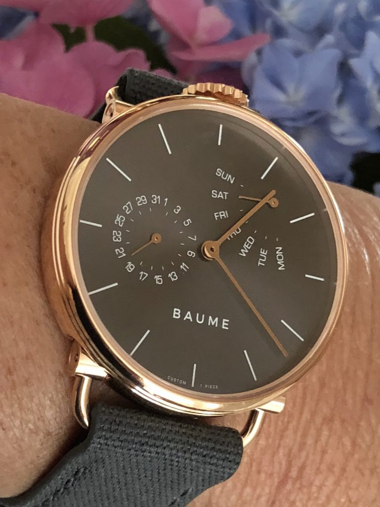 Baume watches are considered unisex and range in size from 35mm to 41mm.