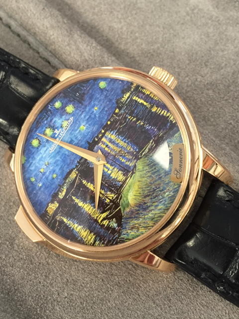 Jaeger-LeCoultre's newest rendition recalls Van Gogh's Starry Night Over the Rhone (photo: R. Naas)
