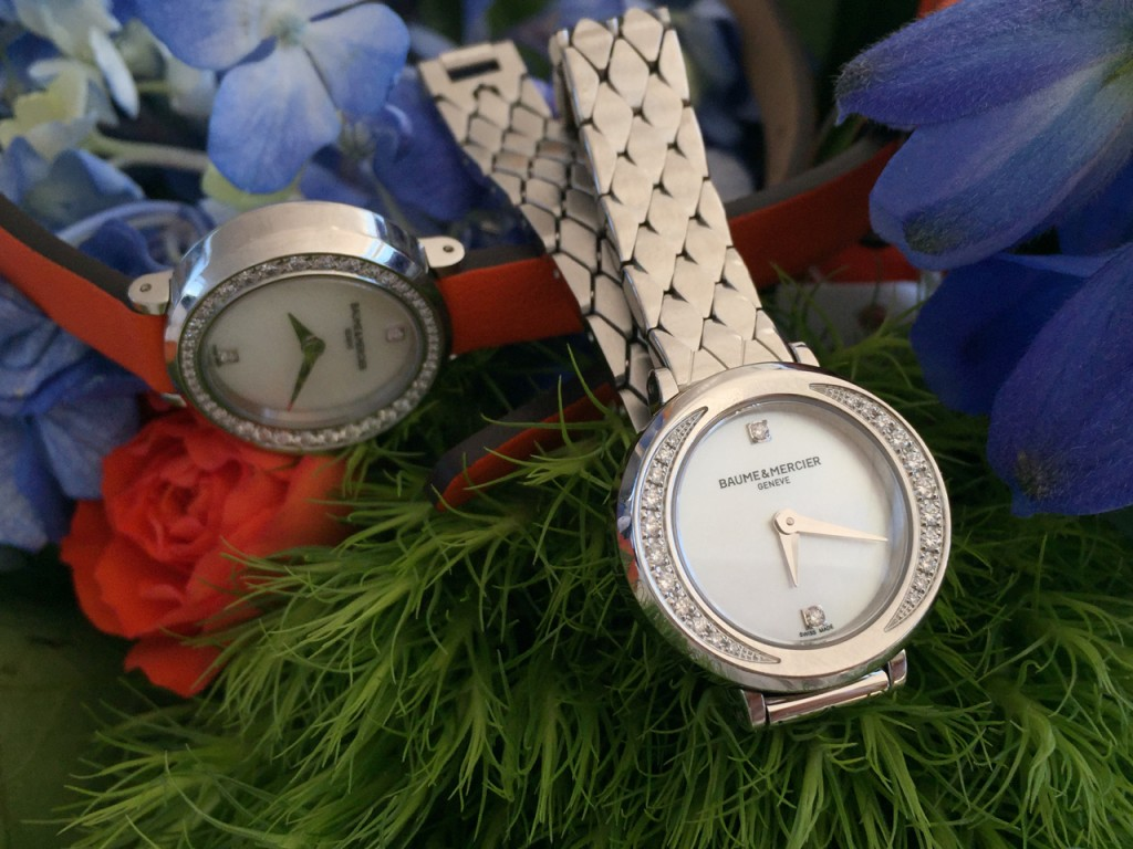 Baume & Mercier Petite Promesse is 22mm in diameter and features double-wrap straps and bracelets (photo: R. Naas/ATimelyPerspective.com)