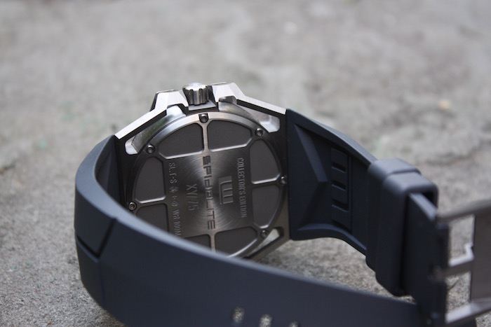 The back casing of the SpidoLite with an engraved number out of 75 pieces to be released.