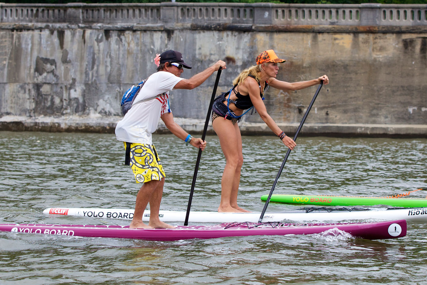 Hundreds of paddlers participate in the charity auction.