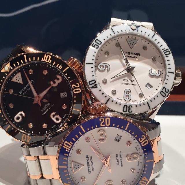 The Eterna KonTiki Ladies Dive watch comes in multiple colors.