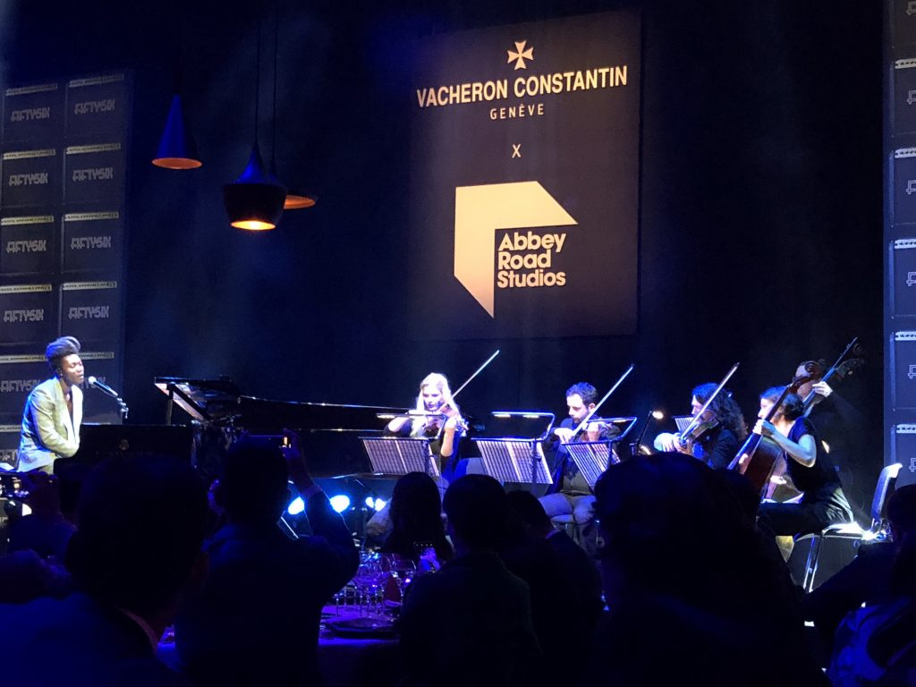 Benjamin Clementine performing at Abbey Road Studios with Vacheron Constantin