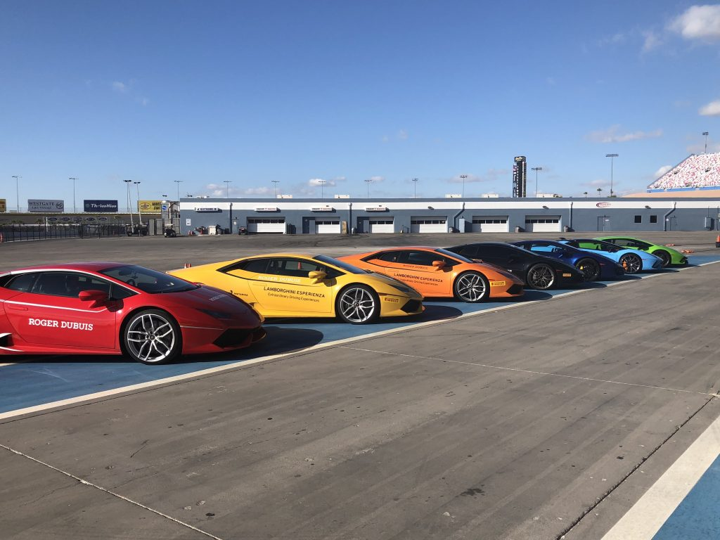 Racing Lamborghinis with Roger Dubuis and Lamborghini at Las Vegas Motor Speedway. (Photo: R. Naas)