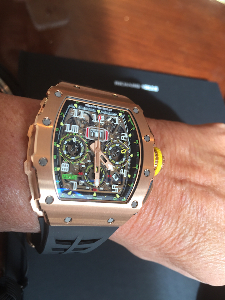 Automotive inspirations mark the Richard Mille RM 11-03 line, including the use of high tech materials.